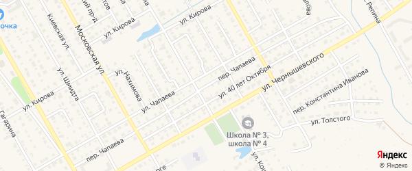 Переулок Чапаева на карте Канаша с номерами домов