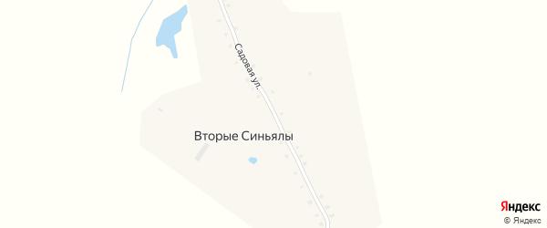 Садовая улица на карте деревни Вторые Синьялы с номерами домов