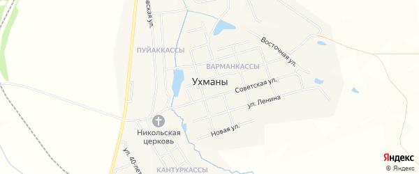СТ Садоводческое тов-во N 10 ВРЗ на карте села Ухманы с номерами домов