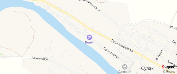Сулакская улица на карте поселка Сулака с номерами домов
