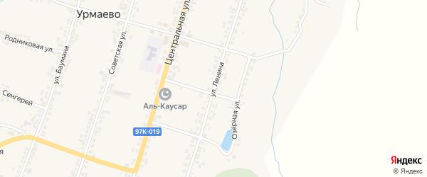 Улица Ленина на карте деревни Урмаево с номерами домов