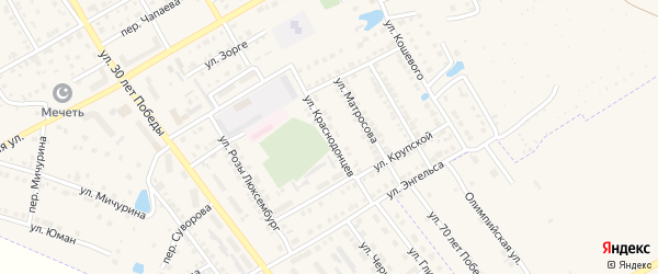 Улица Краснодонцев на карте Канаша с номерами домов