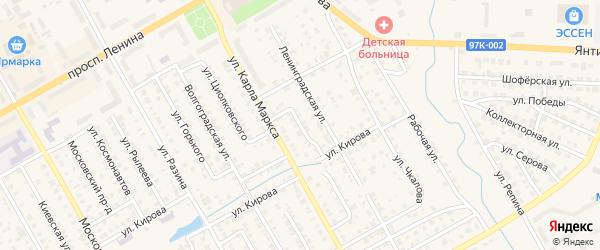 Улица Л.Чайкиной на карте Канаша с номерами домов