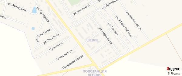 Ухсая улица на карте Канаша с номерами домов