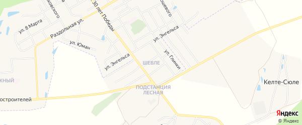 ГСК Шевле на карте Канаша с номерами домов