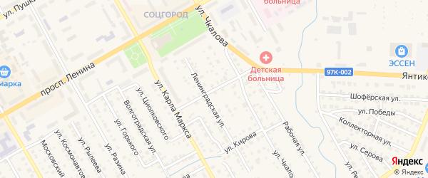 Улица Свердлова на карте Канаша с номерами домов