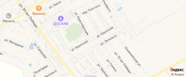 Улица Крупской на карте Канаша с номерами домов