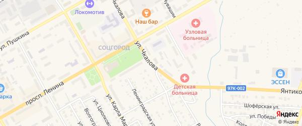 Улица Чкалова на карте Канаша с номерами домов