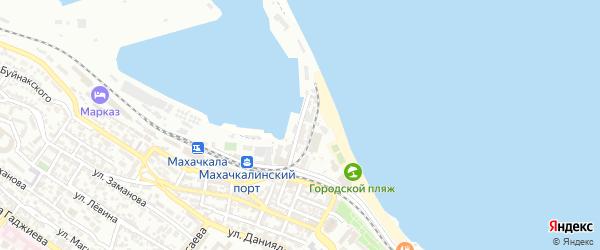 Набережная улица на карте поселка Шамхала с номерами домов