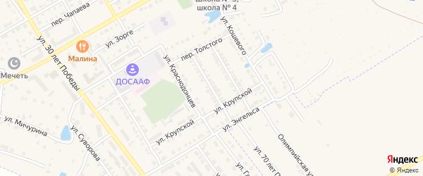 Улица Матросова на карте Канаша с номерами домов