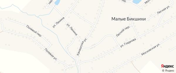 Канашская улица на карте деревни Малые Бикшихи с номерами домов