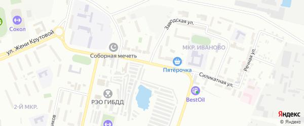 Силикатная улица на карте Новочебоксарска с номерами домов