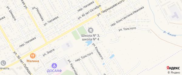 Переулок Л.Толстого на карте Канаша с номерами домов