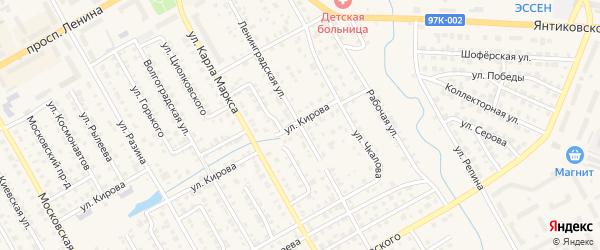 Ленинградская улица на карте Канаша с номерами домов
