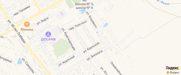 Улица З.Космодемьянской на карте Канаша с номерами домов