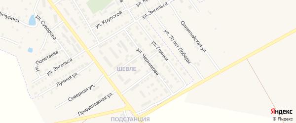Улица Черникова на карте Канаша с номерами домов