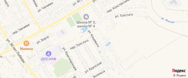 Улица О.Кошевого на карте Канаша с номерами домов