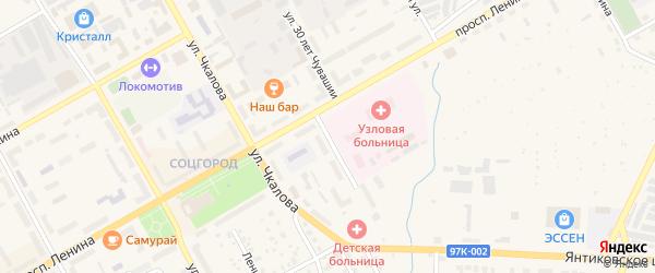 Улица 30 лет Чувашии на карте Канаша с номерами домов