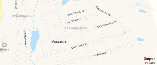 Октябрьская улица на карте села Ухманы с номерами домов
