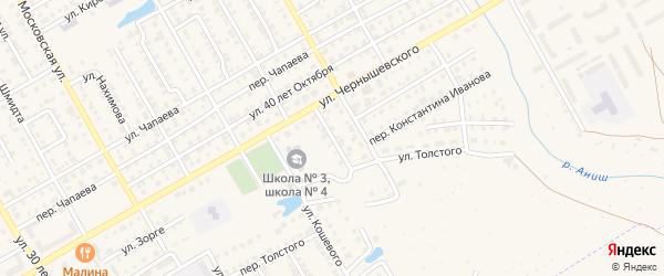Улица Щорса на карте Канаша с номерами домов