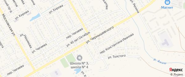 Улица Чернышевского на карте Канаша с номерами домов