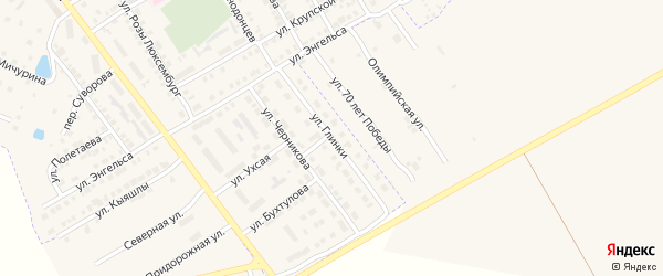 Улица Глинки на карте Канаша с номерами домов