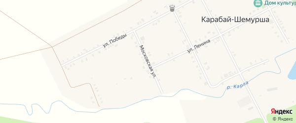 Московская улица на карте деревни Карабая-Шемурши с номерами домов