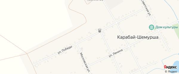 Улица Победы на карте деревни Карабая-Шемурши с номерами домов