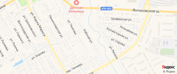 Рабочая улица на карте Канаша с номерами домов