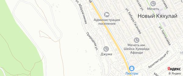 Природная улица на карте поселка Тарки с номерами домов