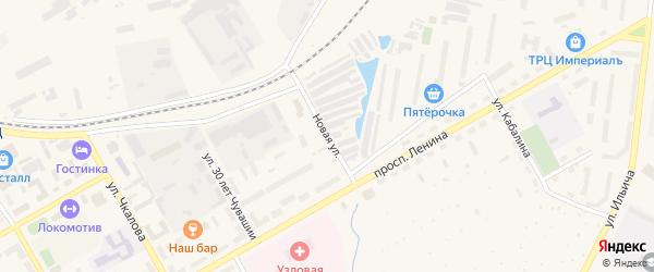Новая улица на карте Канаша с номерами домов