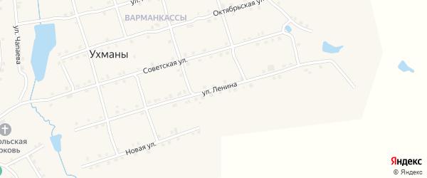Улица Ленина на карте села Ухманы с номерами домов