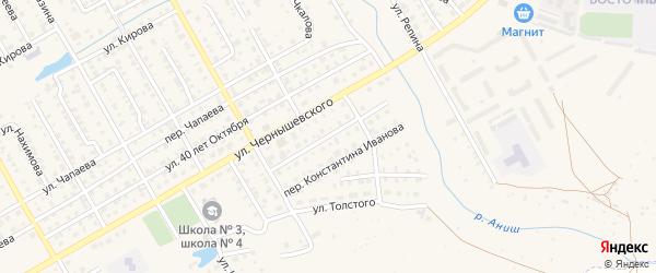 Улица К.Иванова на карте Канаша с номерами домов