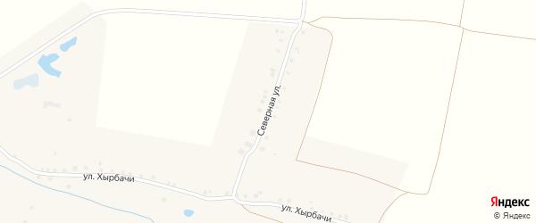 Северная улица на карте деревни Поваркасы с номерами домов