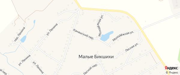 Канашский переулок на карте деревни Малые Бикшихи с номерами домов