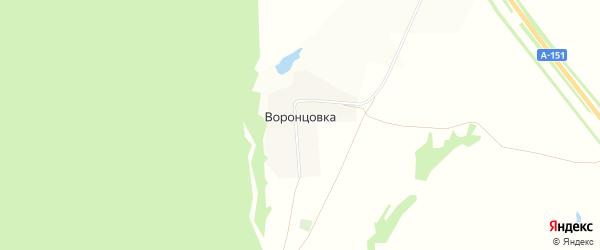Карта деревни Воронцовки в Чувашии с улицами и номерами домов