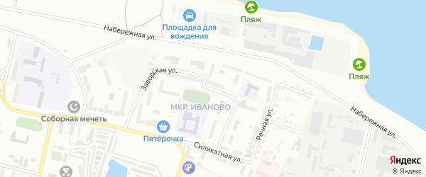 Заводская улица на карте Новочебоксарска с номерами домов