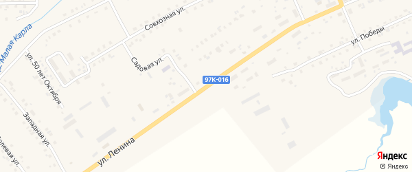 Улица Ленина на карте села Шемурши с номерами домов