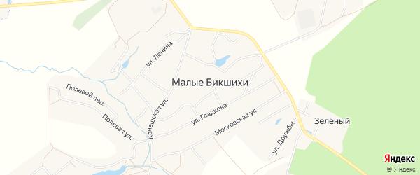 СТ Садоводческое некомм.тов-во Ремонтник-2 на карте деревни Малые Бикшихи с номерами домов