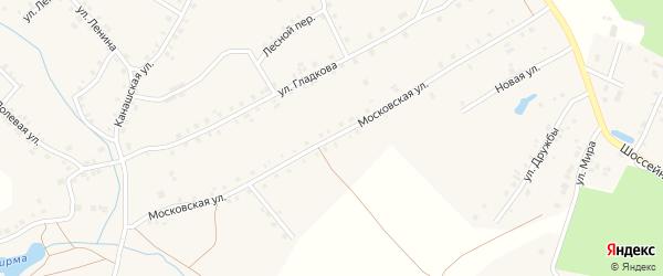 Московская улица на карте деревни Малые Бикшихи с номерами домов