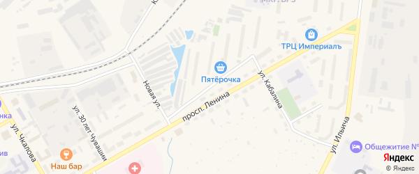 Заводская улица на карте Канаша с номерами домов