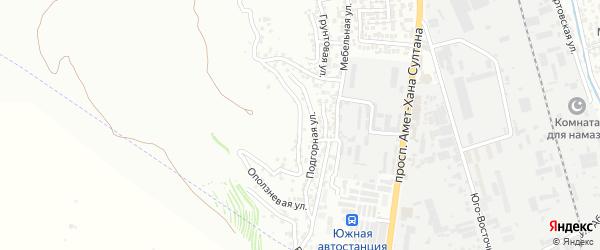 Оползневая улица на карте поселка Тарки с номерами домов