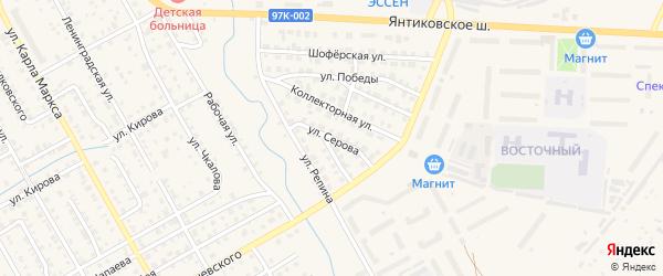 Улица Серова на карте Канаша с номерами домов