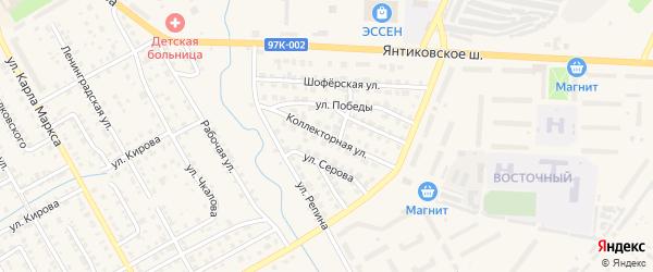 Коллекторная улица на карте Канаша с номерами домов