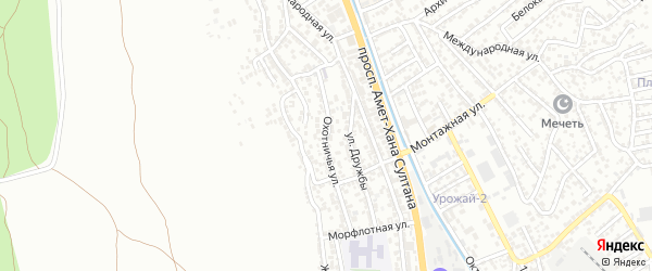 Охотничья улица на карте поселка Тарки с номерами домов