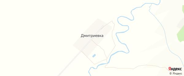 Карта деревни Дмитриевки в Чувашии с улицами и номерами домов