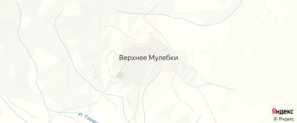 Карта села Верхние Мулебки в Дагестане с улицами и номерами домов