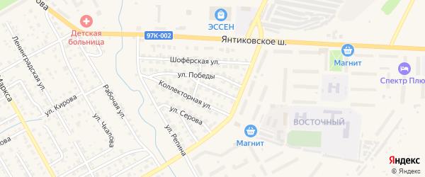 Кольцевая улица на карте Канаша с номерами домов