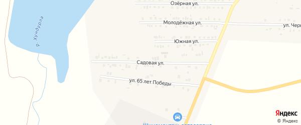 Садовая улица на карте Комсомольского села с номерами домов