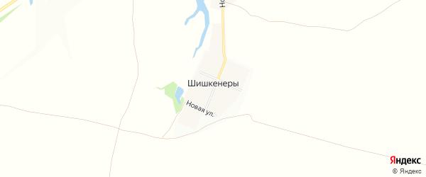Карта деревни Шишкенер в Чувашии с улицами и номерами домов